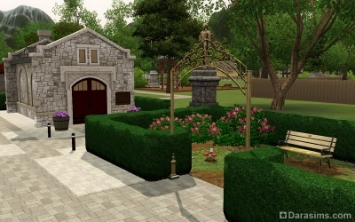 Задний двор библиотеки в Мунлайт Фолс