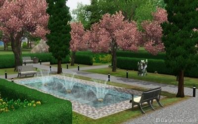 Сад у дендрария в Мунлайт Фолс в Симс 3 Сверхъестественное
