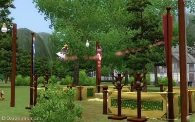 парк «Метла «Тест-драйв» в Мунлайт Фолс в Симс 3 Сверхъестественное
