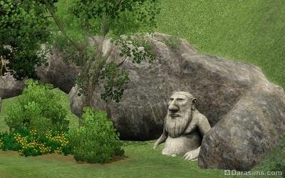 Каменный тролль в Мунлайт Фолс