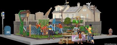 Рендер про новые возможности в в «The Sims 4 Экологичная Жизнь»