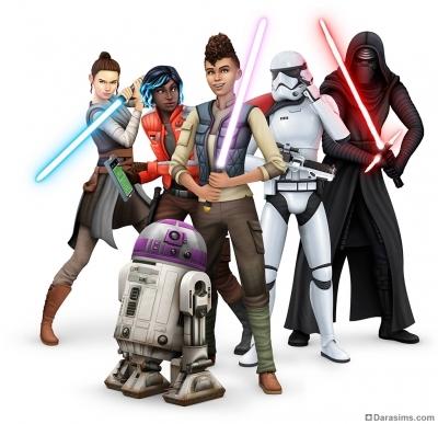 Рендер для игрового набора The Sims 4 Star Wars Путешествие на Батуу