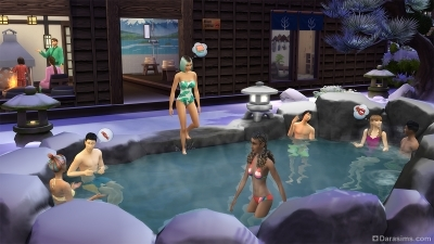 Горячие источники в The Sims 4 Снежные просторы