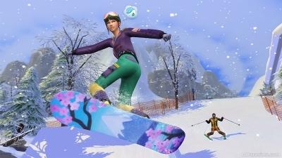 Катание на сноуборде в The Sims 4 Снежные просторы