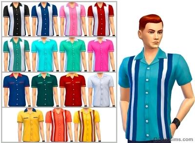 Рубашки унисекс из каталога симс 4 вечер боулинга