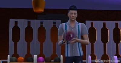 шар для боулинга с черепом в Симс 4 вечер боулинга