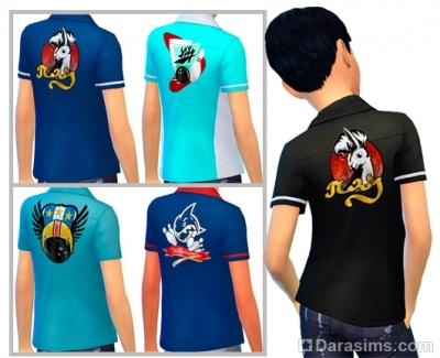 Детские рубашки из каталога симс 4 вечер боулинга