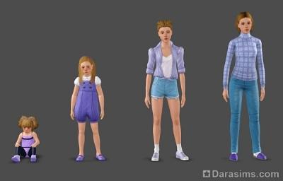 Несколько версий персонажа для постановок в Симс 3