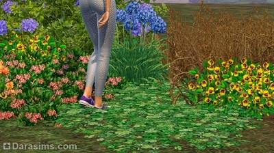 Объемная трава в постановках в Симс 3
