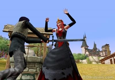 Шпион убивает ведьму мечом