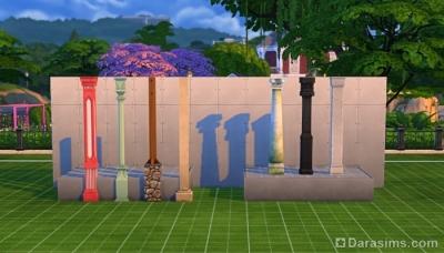 Платформы и колонны в Симс 4