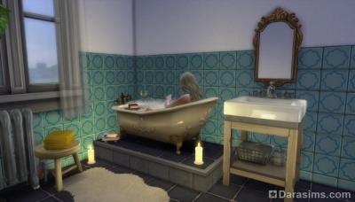 Платформы при оформлении ванн в Симс 4
