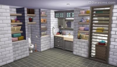 Платформы при оформлении ванных комнат в Симс 4