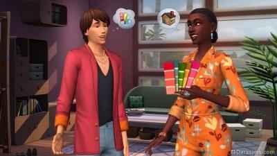 Разговор дизайнера с клиентом в игровом наборе «The Sims 4 Интерьер мечты»