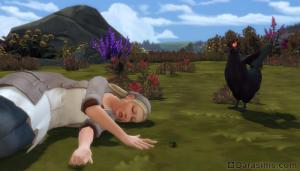 смерть из-за атаки курицы в Симс 4