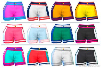Спортивные шорты в Симс 4 Наряды из прошлого