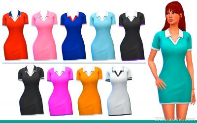 Спортивное платье в Симс 4 Наряды из прошлого
