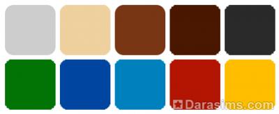 Цветовая палитра комплекта Симс 4 Личный оазис