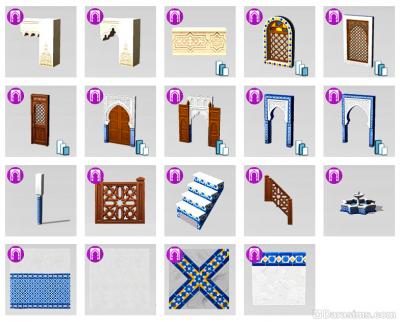 Строительные элементы комплекта Симс 4 Личный оазис