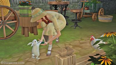 Обмен подарками с кроликом в Симс 4 Загородная жизнь