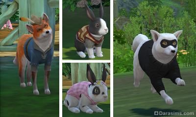 Одежда для животных в Симс 4 Загородная жизнь