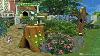 Домики кроликов и птиц в Симс 4 Загородная жизнь