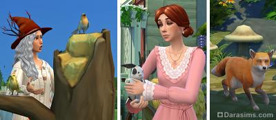 Дикие животные и птицы в Симс 4 Загородная жизнь