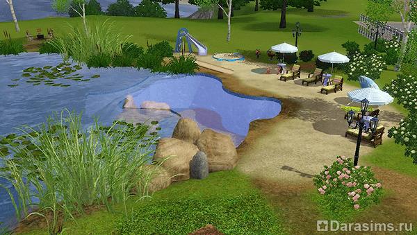 Симс 3 как сделать озеро