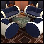 Набор мягкой мебели для гостиной + столик-аквариум
