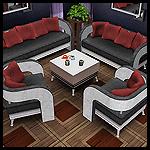Набор мягкой мебели с подушками