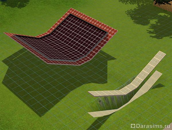 Как сделать из крыши этаж в симс 4