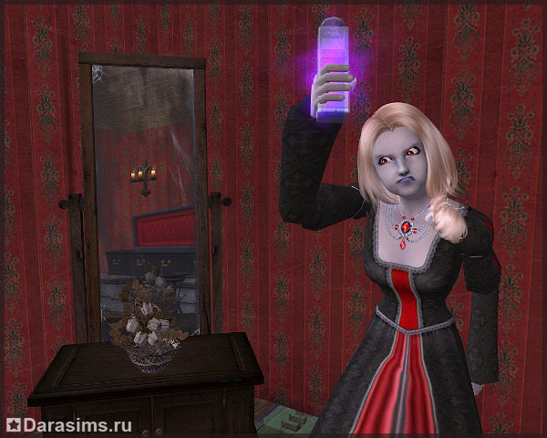 Как сделать сима вампиром