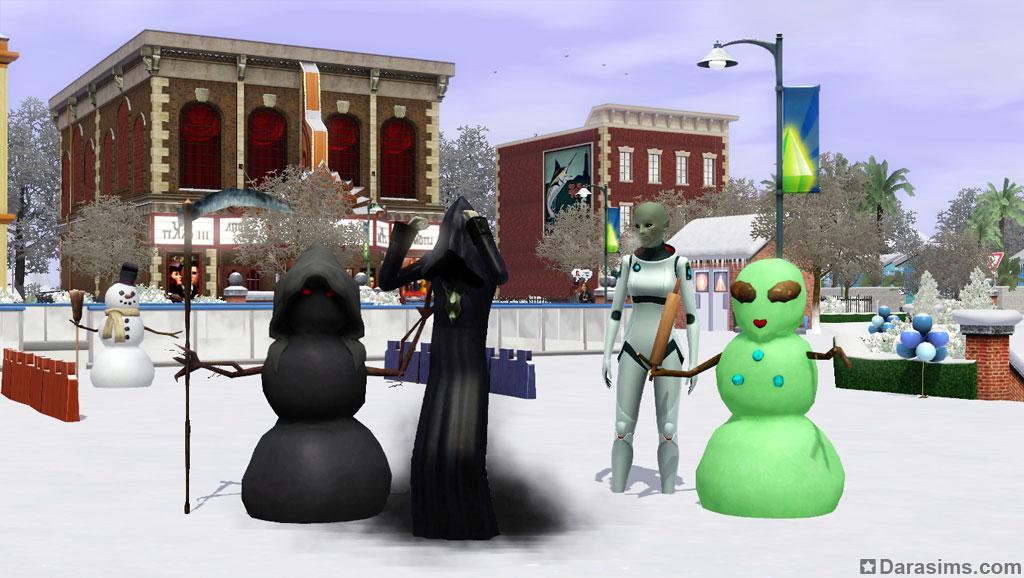 Как в симс 3 сделать зиму