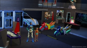 Супергерои в «The Sims 3 Movie Stuff»