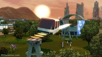 Монорельс в «The Sims 3 Into the Future»