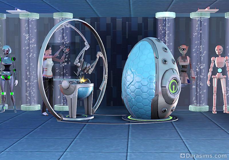 Как в симс 3 создать робота вперед в будущее