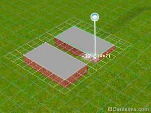 Симс 3 как сделать фундамент треугольным