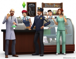 Рендер из The Sims 4 Get to work