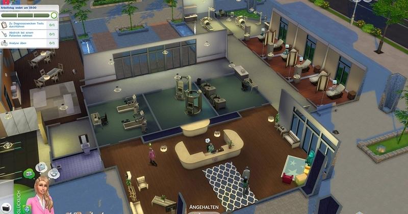 Симс 4 как сделать больницу