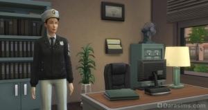 Начальник полиции в дополнении «Симс 4 На работу!»