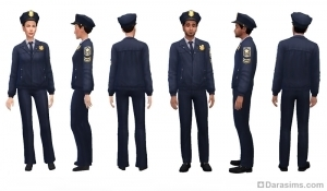 Форма полицейского на 1—4 уровнях карьеры