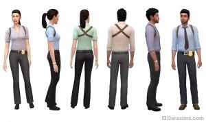 Рабочая одежда детектива на 5—9 ступенях карьеры