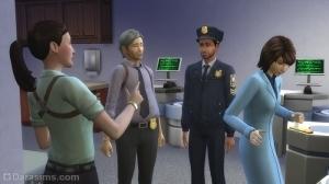 Полицейские и детективы в «Симс 4 На работу!»