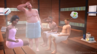Сауна в наборе The Sims 4 Spa Day
