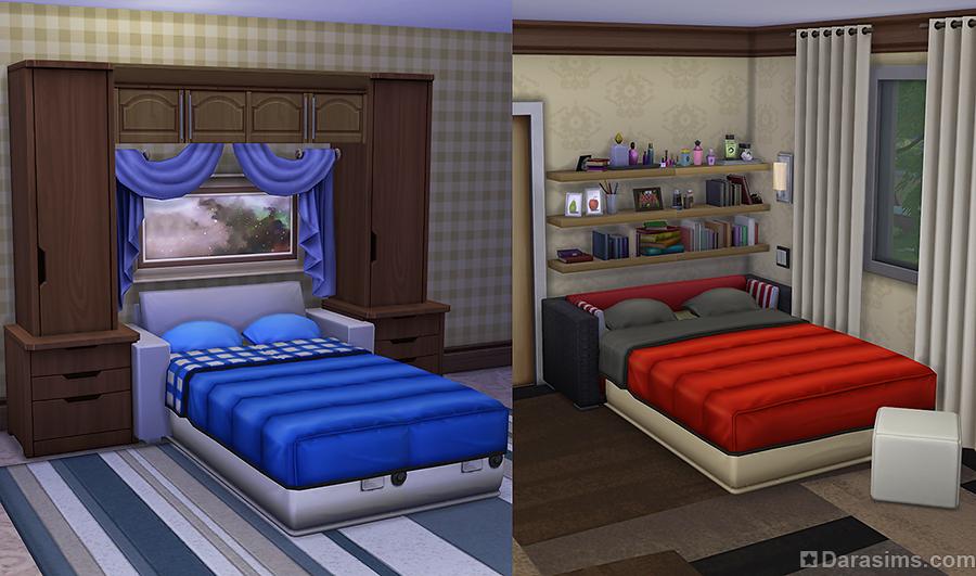 Как в симс 4 сделать двухъярусную кровать 776