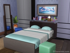 изголовье кровати из комода