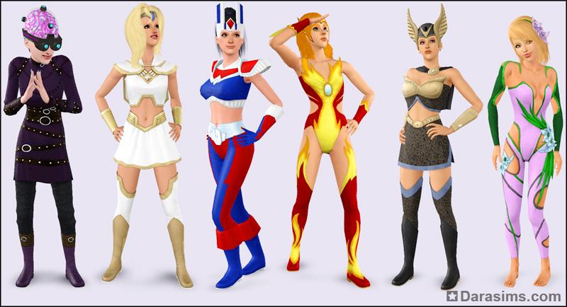 Костюм супергероя женский