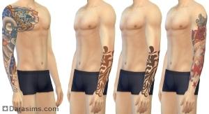 татуировки в симс 4 жизнь в городе