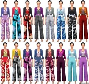 Женский костюм в CAS Sims 4