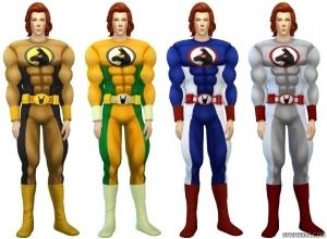 Мужской костюм супергероя в Симс 4